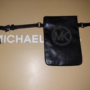 Michael Kors Fanny Pack Black Belt Size Medium